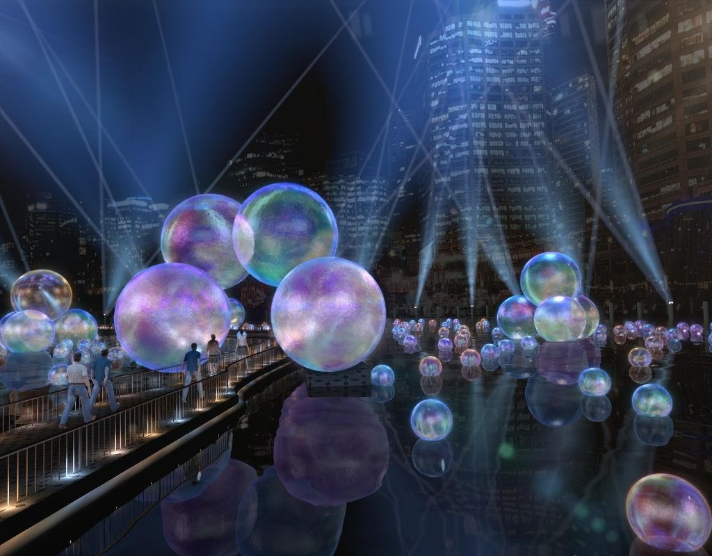 The Ephemeral, una instalación de burbujas en Vivid Sydney 2021