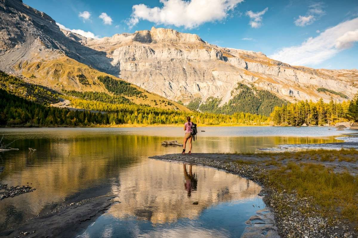Sustainable travel in Switzerland: Lac de Derborence © Jan Geerk