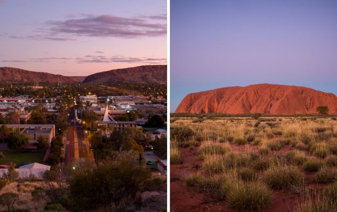 Alice Springs to Ayres Rock Uluru flights