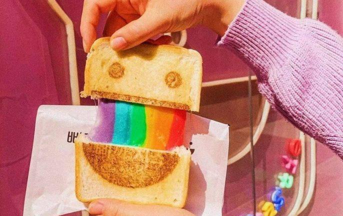 rainbow toastie