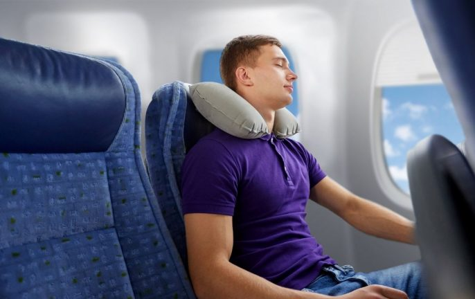 How to wear a travel pillow