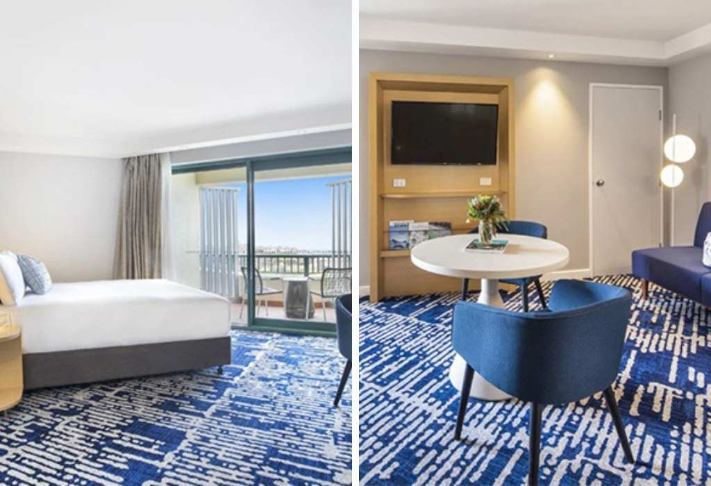 The Superior Ocean Room we stayed in at Crowne Plaza Sydney Coogee Beach