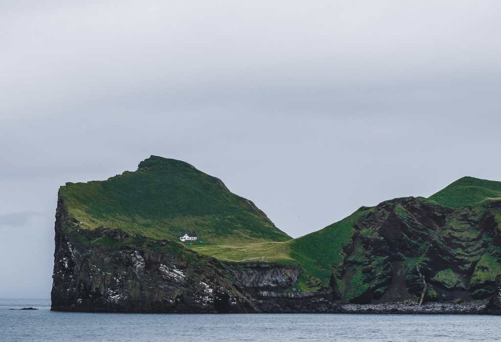 the loneliest house in the world on Ellidaey Island
