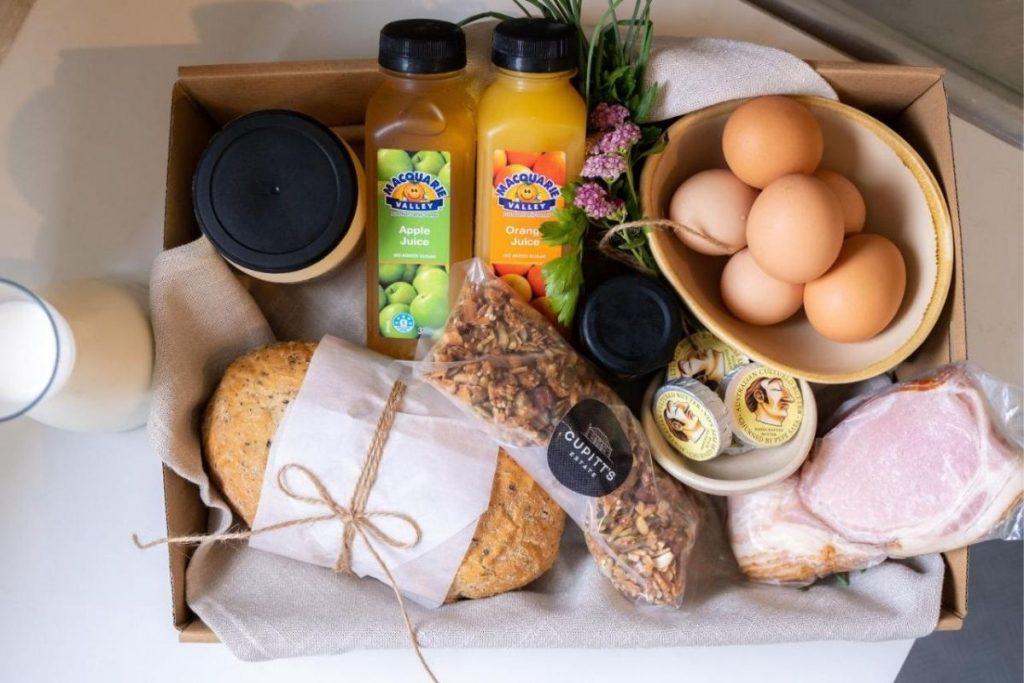 Cupitt's Estate breakfast hamper.