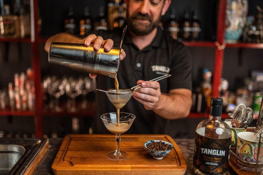 Bradley Young makes an espresso martini