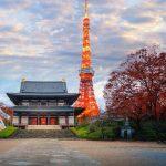 Zojoji temple in Tokyo city